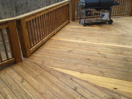 Deck with a restored finish